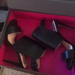 Vince Camuto black leather heels